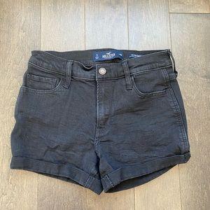 Hollister black mid rise shorts